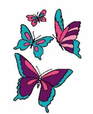 4 Butterflies 223x273