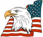 American Eagle Head with Flag 221x188