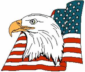 American Eagle Head with Flag 221x188