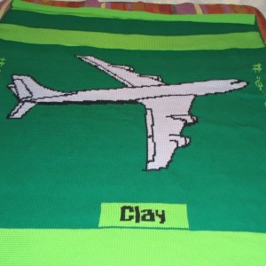 Clay's Airplane with Music Notes