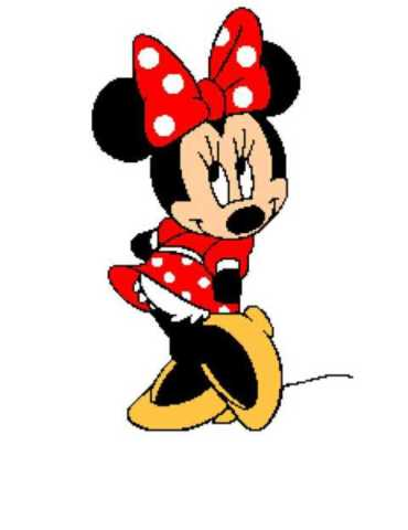 Minnie Mouse Tunisian Simple Stitch Crochet Afghan Graph Pattern 5