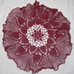 Burgundy Tablecloth 1