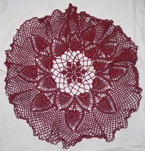 Burgundy Tablecloth 1