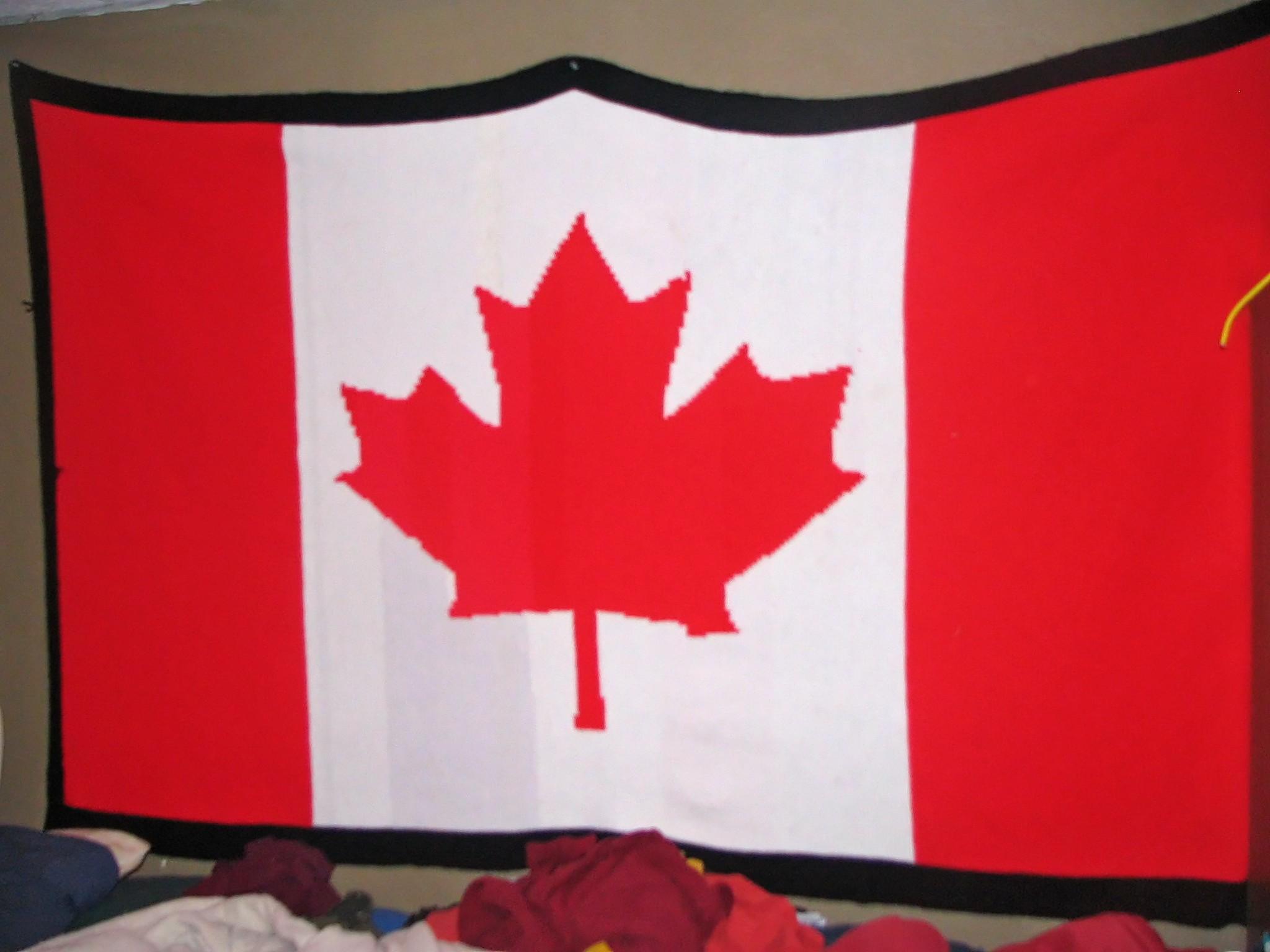 Canadian Flag Blanket Pictures | Chris Bridges Designs