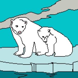 2 Polar Bears 164x212