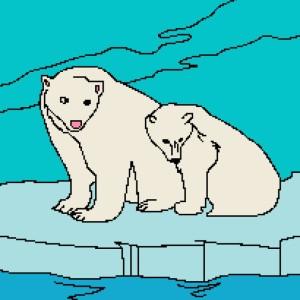 2 Polar Bears 205x265