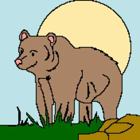 Bear and Sun 176x176