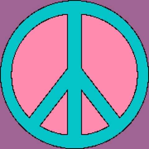 Peace Sign Mandala 180x180