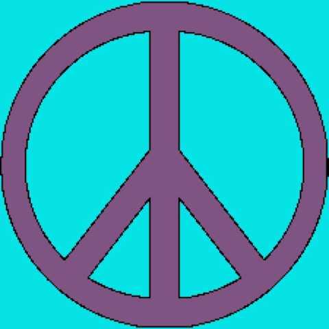 Peace Sign Mandala Tunisian Simple Stitch Crochet Afghan Graph