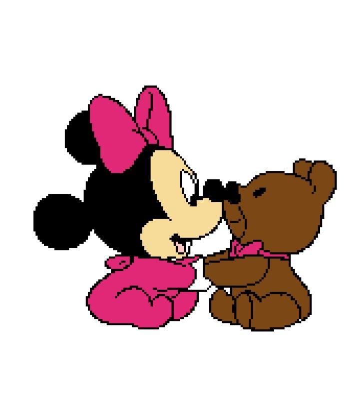 Baby Minnie with Bear 174X200
