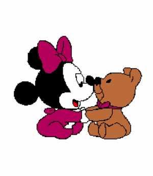 Baby Minnie with Bear 209X240