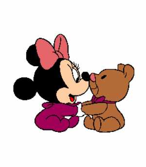 Baby Minnie with Bear 262X300