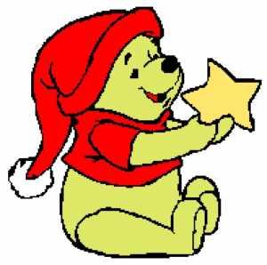 Winnie the Pooh with Star 197x196